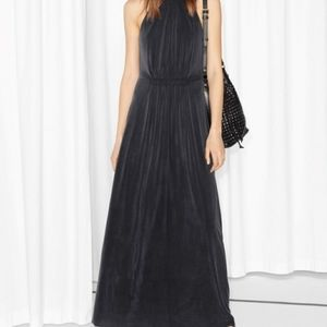 & OTHER STORIES NWT cupro maxi dress